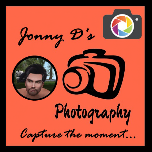 """Jonny D's Photography Logo with tagline """"Capture the moment..."""", a photo of Jonny, and two images of cameras."""
