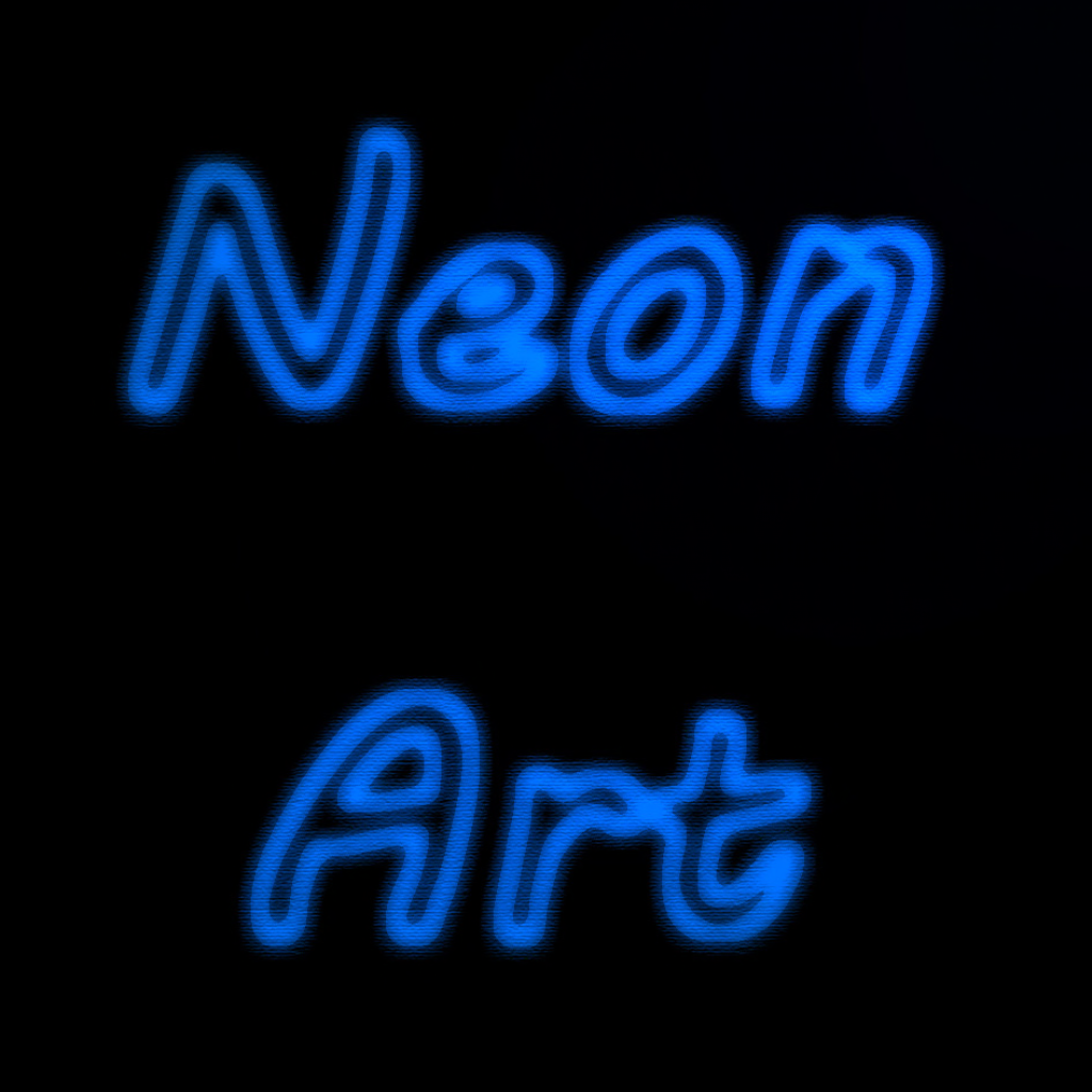 Neon Art Logo displayed with neon light style letters