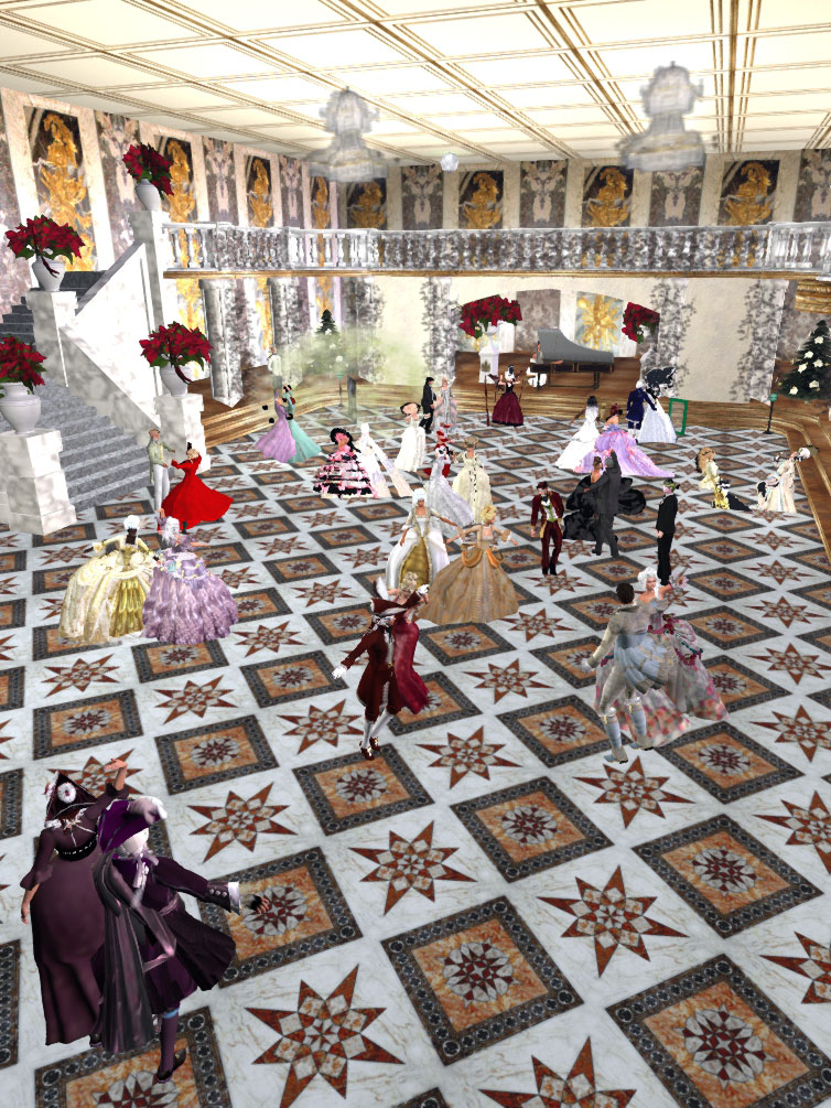 Image of Coeur de Bourgogne Hospice Ballroom on the night of 23 November 2019 during the Musique Baroque ball featuring DJ Cecilia.